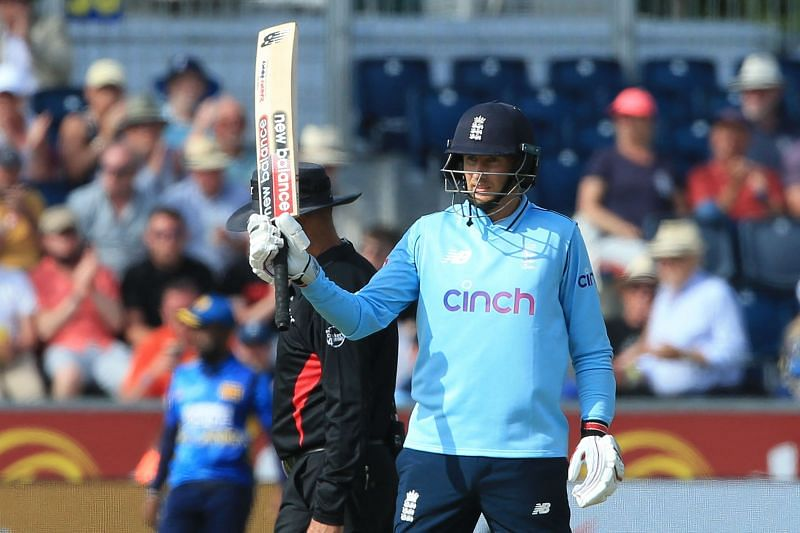 Joe Root celebrates a half-century in his 150th ODI AFP/Getty Images