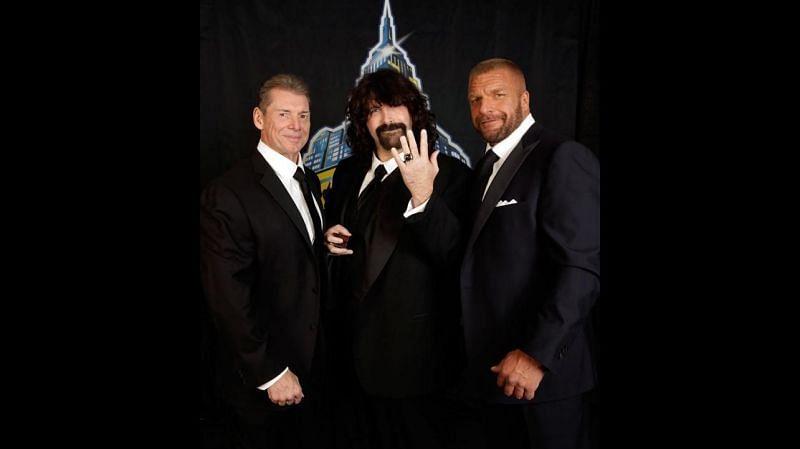 Vince McMahon, Mick Foley and Triple H