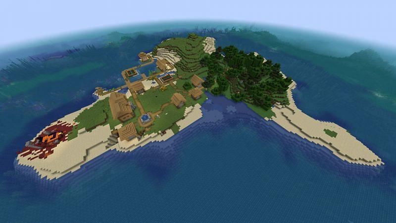 Island at spawn (Image via Reddit)