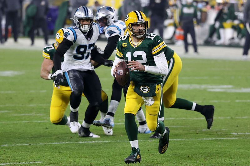 Aaron Rodgers with the Green Bay Packers