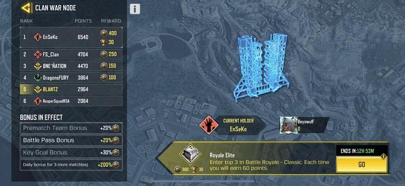 Clan War mission 1 (via COD Mobile) Clan War mission 2 (via COD Mobile)