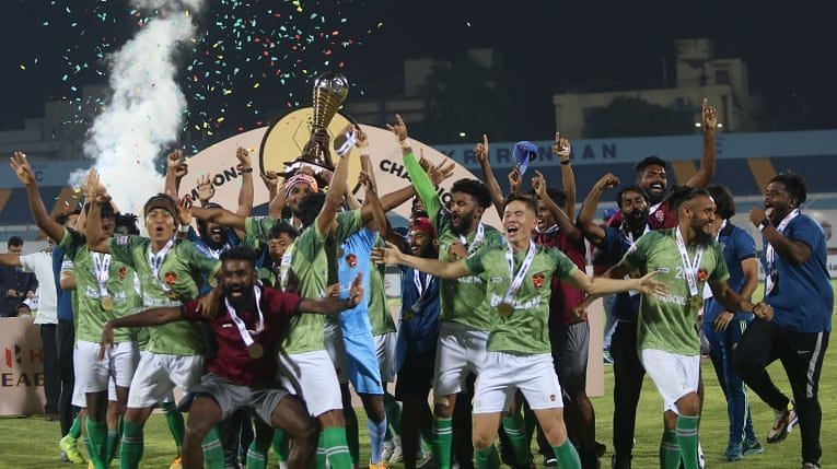 Gokulam Kerala FC will look to defend their I-League title in the next season. (Image; AIFF)