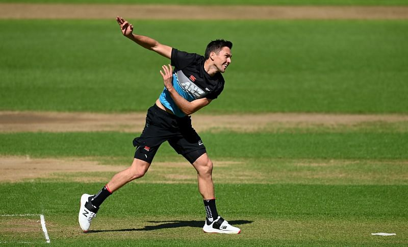 Trent Boult in a nets session