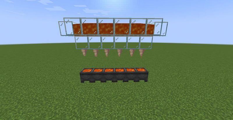 Farming lava (Image via Minecraft)