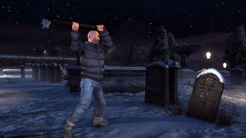 Enterrer la hache de guerre est l'une des missions cruciales de GTA 5 (Image via IGN)