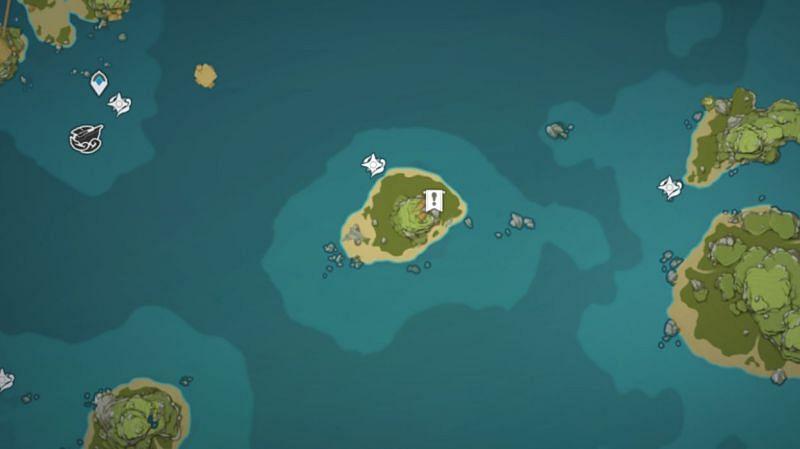 Nameless Island mural location (image via Genshin Impact)