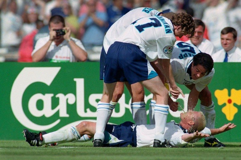 Paul Gascoigne's celebration against Scotland in 1996 is one of English football's most iconic moments.