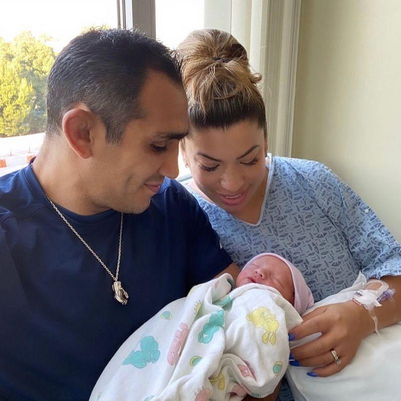 Tony Ferguson with his wife Cristina and newborn son [Image Courtesy: @tonyfergusonxt on Instagram]