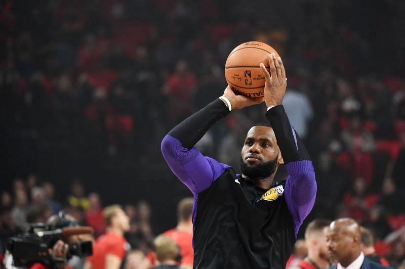 LeBron James of the LA Lakers.