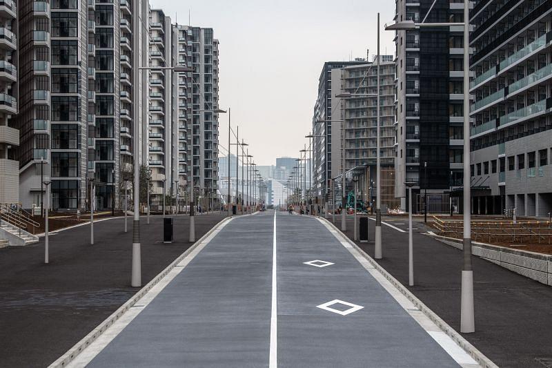 Apartment blocks at the Tokyo Olympics Games Village