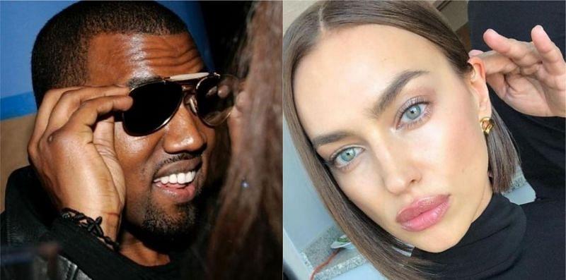 Kanye West and Irina Shayk (image via Instagram)