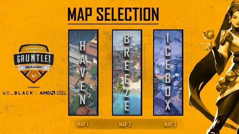 Global Esports vs Orgless5 Selected Maps (Image via YouTube/The Esports Club)
