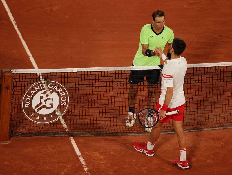 Novak Djokovic after beating Rafael Nadal