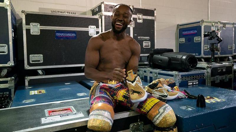 Kofi Kingston at WrestleMania 35.
