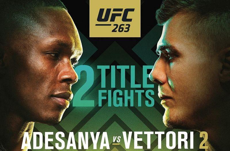 UFC 263: Adesanya vs. Vettori 2Credits: @ufc on Instagram