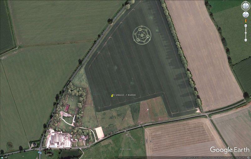 The Fortnite Chapter 2 Season 7 crop circles are real! (Image via Google Earth)
