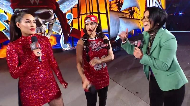 The Bella Twins and Bayley at WWE WrestleMania 37