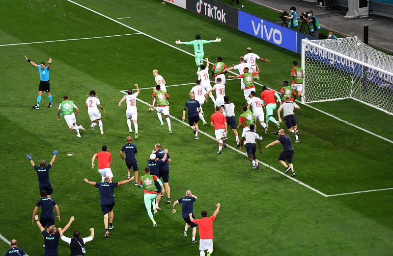 Switzerland gave as good as they got against France