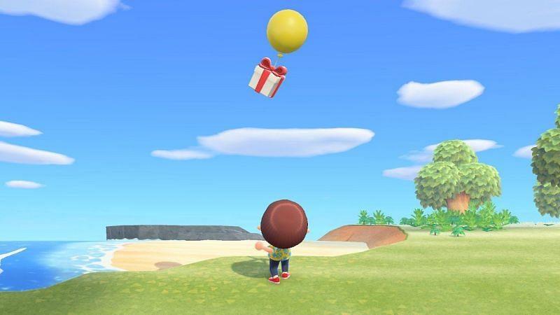 Animal Crossing balloon present. Image via Nintendo Life