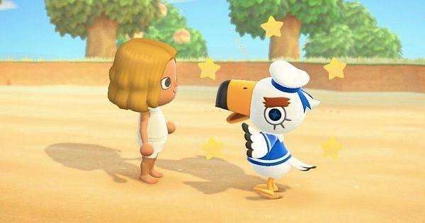 Interacción de Gulliver con un jugador (Imagen a través de Animal Crossing World)