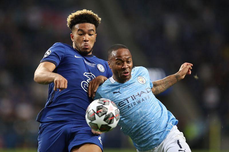 Raheem Sterling in action versus Chelsea