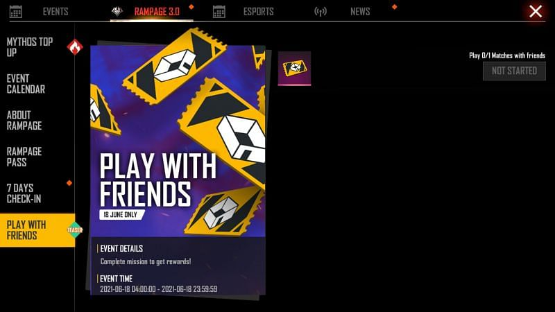Room card is available only on June 18th as a reward for playing with friends