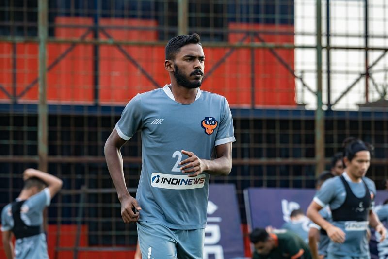 Sanson Pereira is a young left-back, playing for FC Goa in the ISL. (Image: FC Goa)