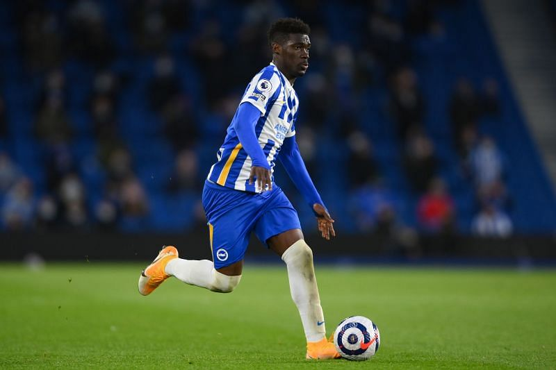 Yves Bissouma in action for Brighton & Hove Albion in the Premier League