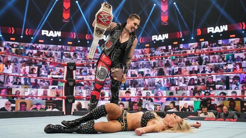 Rhea Ripley has to avenge her WrestleMania title loss against Charlotte Flair