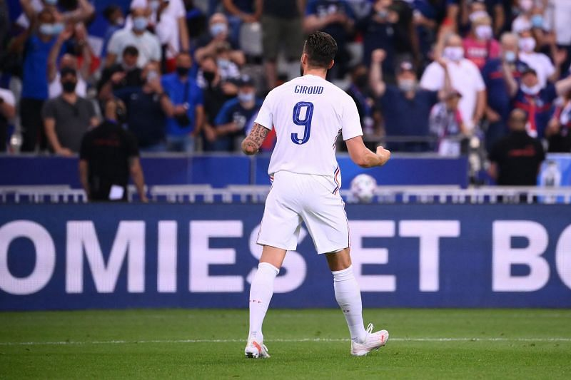 Olivier Giroud is the second-highest goalscorer for France