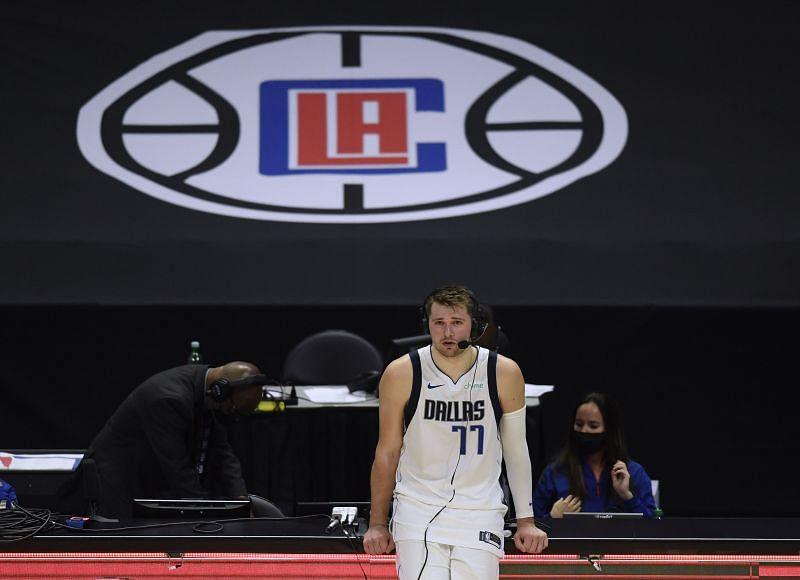 Luka Doncic with the Dallas Mavericks
