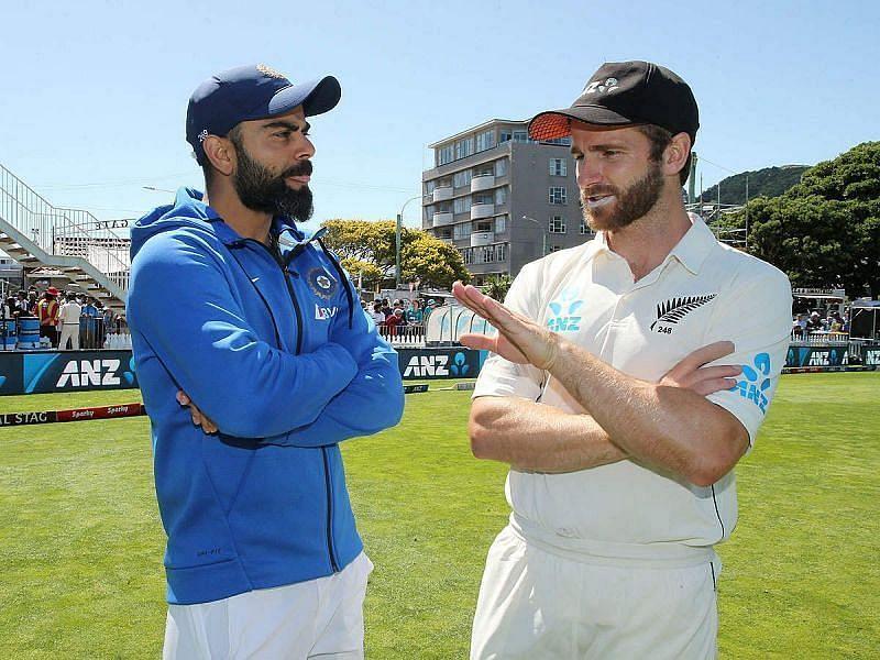 India and New Zealand skippers Virat Kohli and Kane Williamson