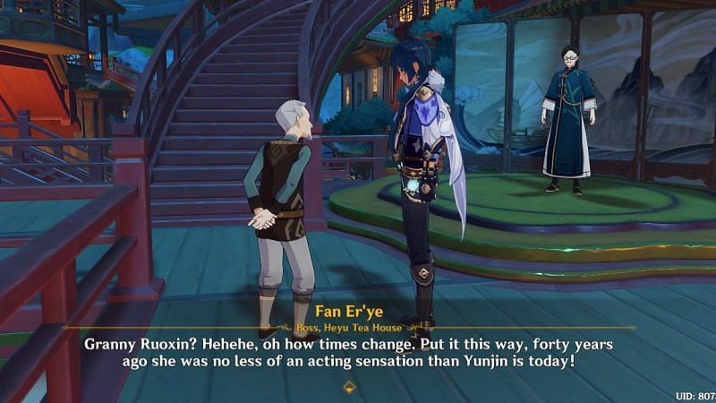 Fan Er'ye's mention of Yunjin (image via kanayoiski Twitter)