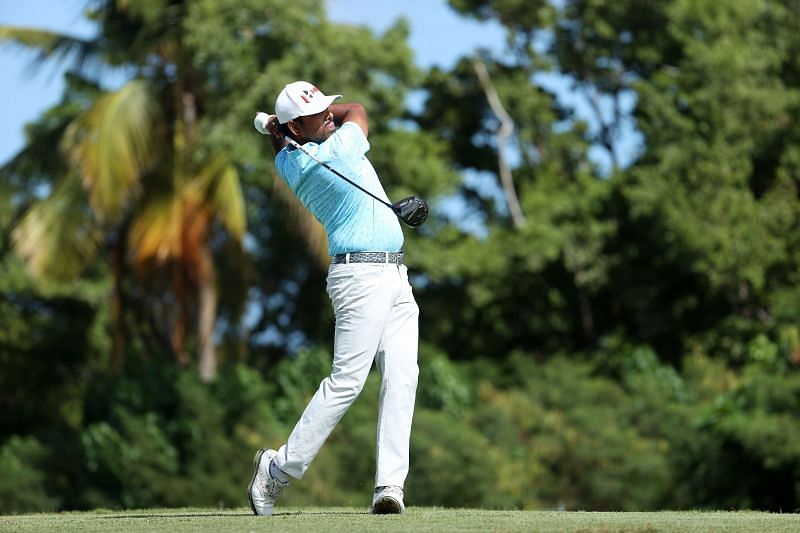 Anirban Lahiri of India plays his shot from the 18th tee during the second round of the Puerto Rico Open at Grand Reserve Country Club in Puerto Rico. (Photo by Andy Lyons/Getty Images)