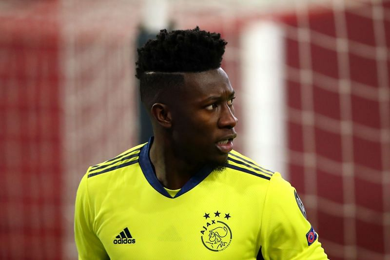 Andre Onana playing for Ajax in the UEFA Champions League