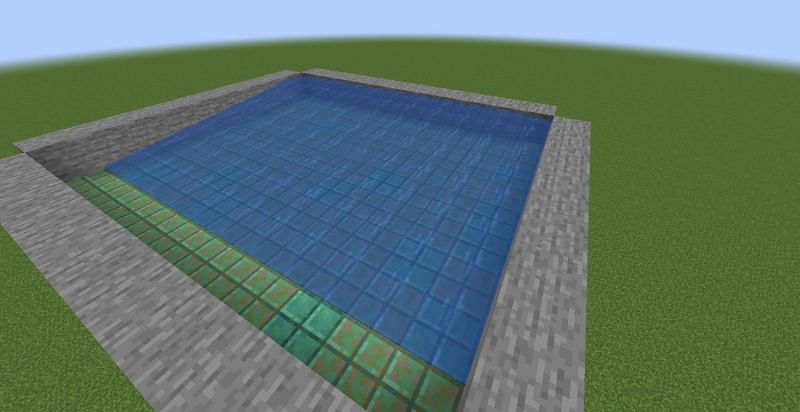 Cover with slabs to place water (Image via Minecraft)