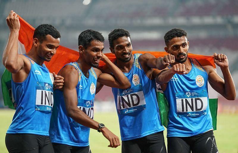 Indian men's 4*400 team