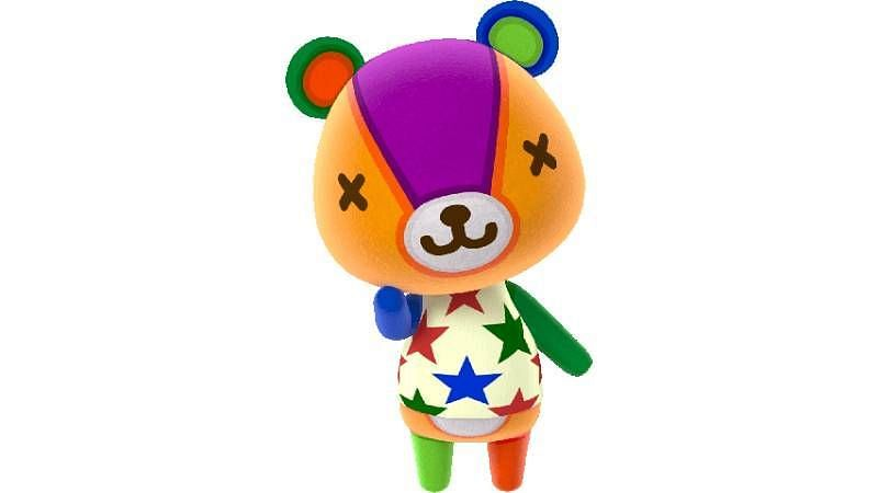 Stitches, the lazy bear cub from Animal Crossing: New Horizons (Image via Twinfinite)