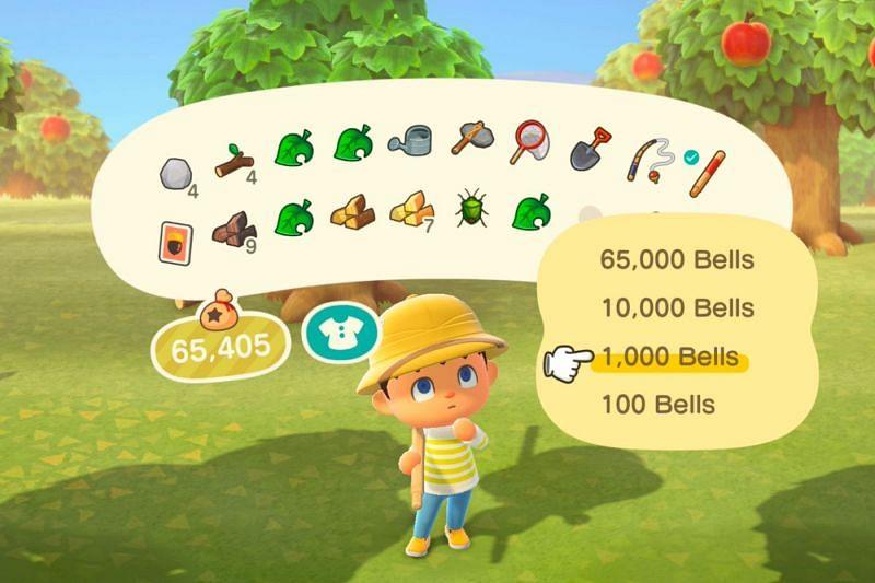 Planting a money tree in Animal Crossing (Image via Polygon)