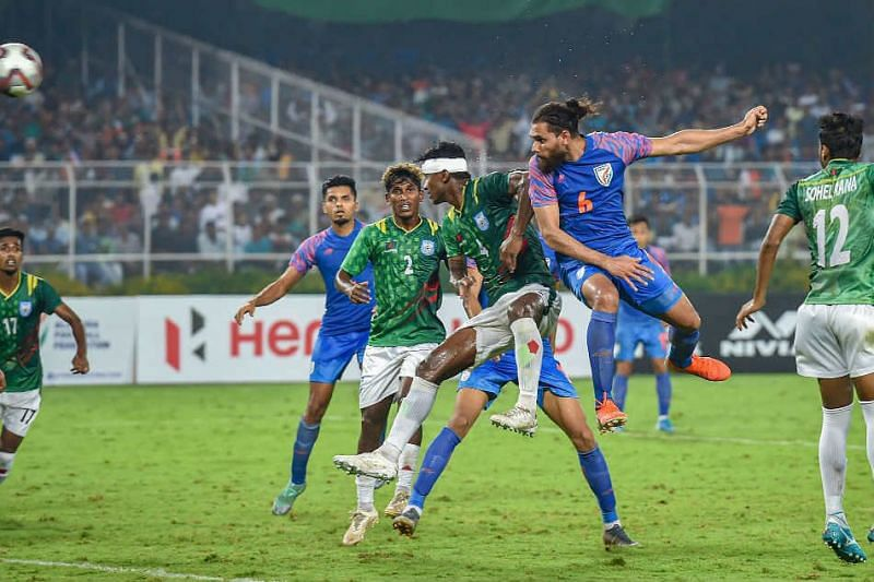 Indian football team and Bangladesh played a 1-1 draw earlier in the qualifiers. (Image: AFC)