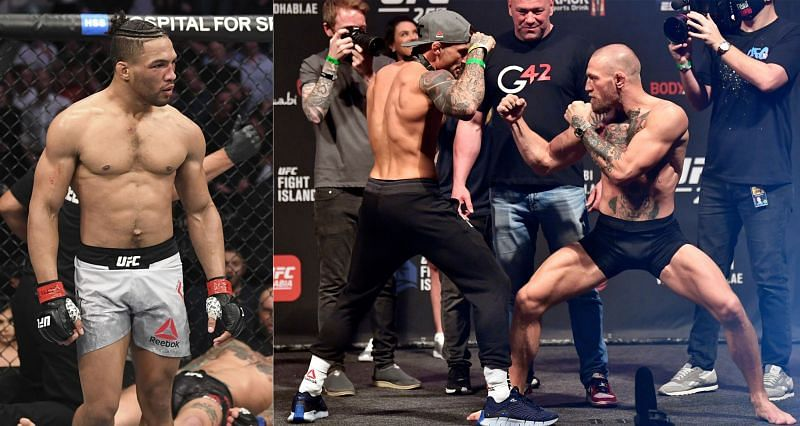 Kevin Lee (Left) Dustin Poirier (Center) and Conor McGregor (Right)