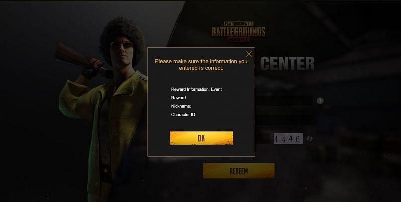 After verifying the details, players can press the OK button
