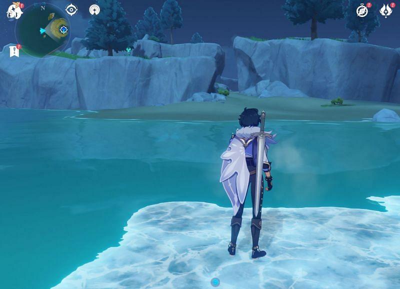 Kaeya can form a Cryo bridge for patient players (Image via Sportskeeda)