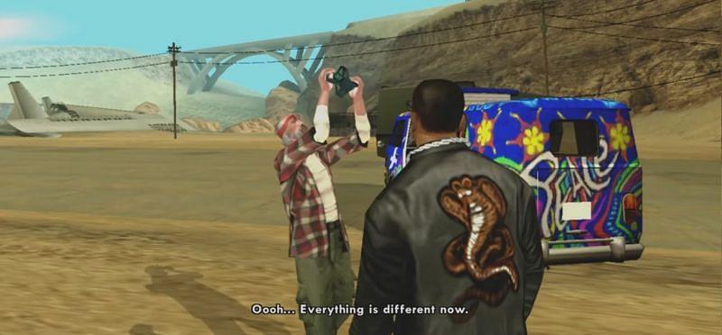 Cette mission permet au joueur d'utiliser le jetpack (Image via GTA Wiki - Fandom)
