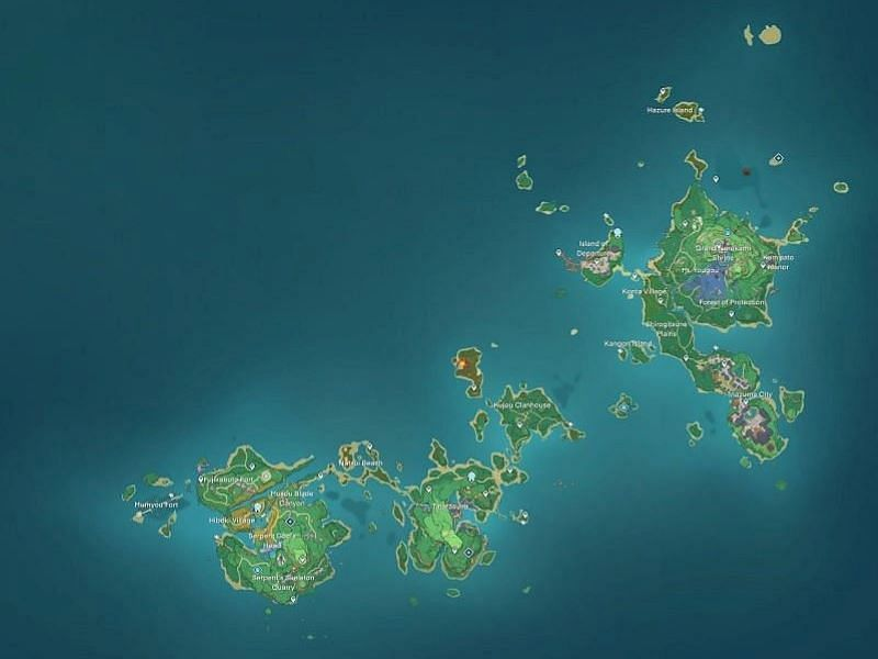 Inazuma map (image via Genshin Intel)