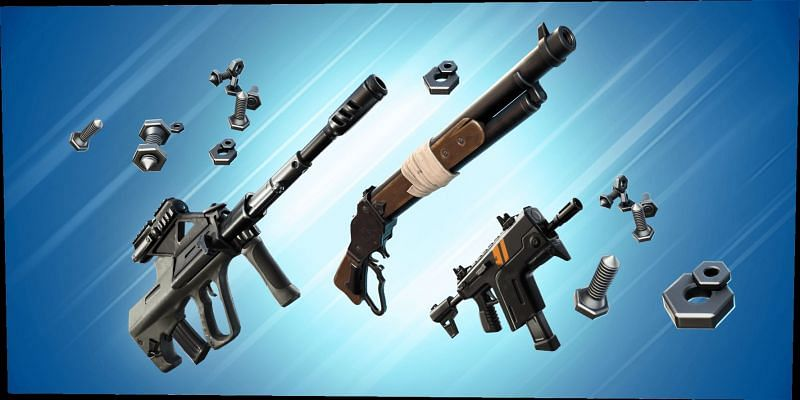 Craftable weapons in Fortnite. Image via Epic Games Store