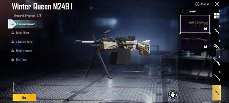 M249 (Image via Battlegrounds Mobile India)