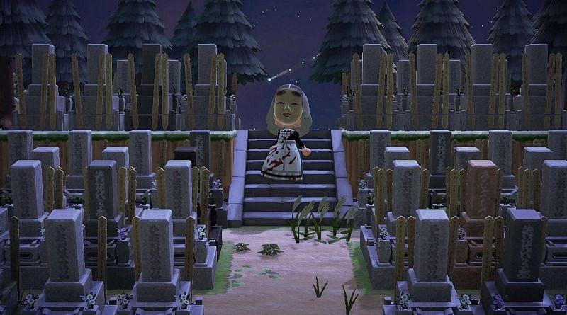 Cemetery themed island in Animal Crossing (Image via NintendoSoup)