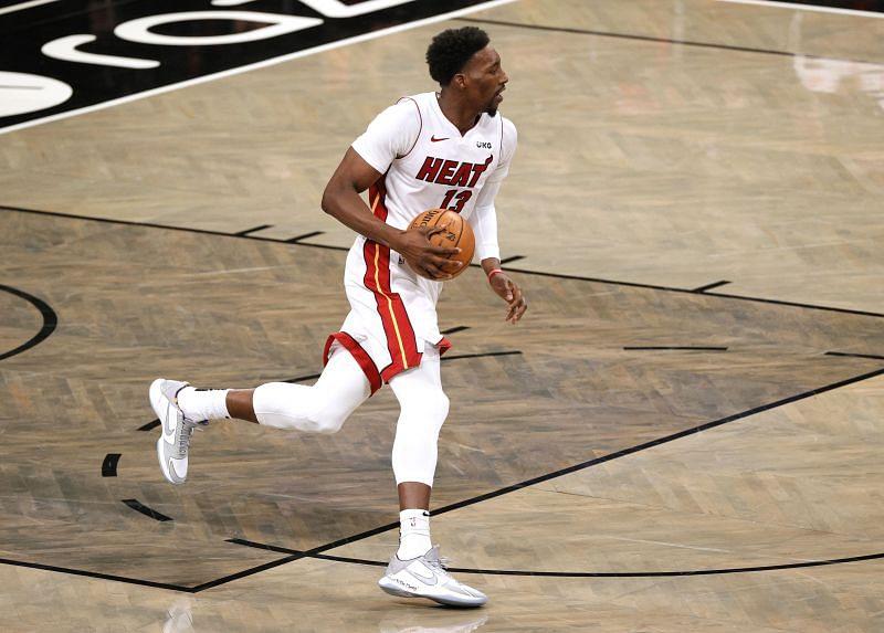 Bam Adebayo #13 of the Miami Heat