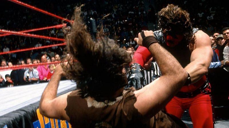 Kane defeated Mick Foley